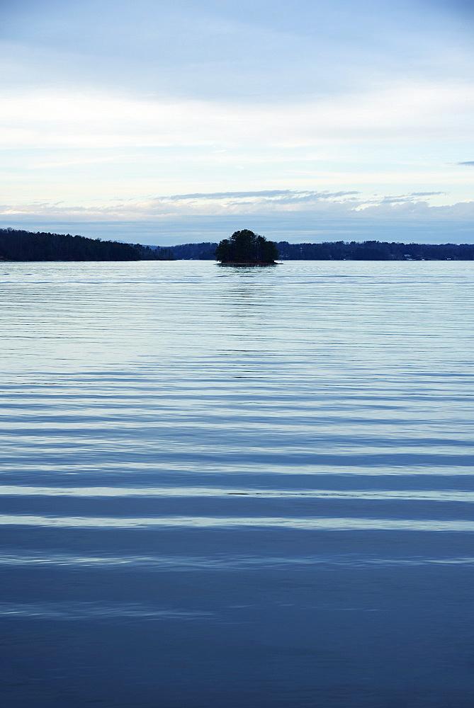 Ripple pattern on lake, Lake Lanier, Georgia