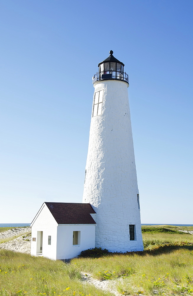 View of lighthouse, Great Point Lighthouse, Nantucket, Massachusetts USA