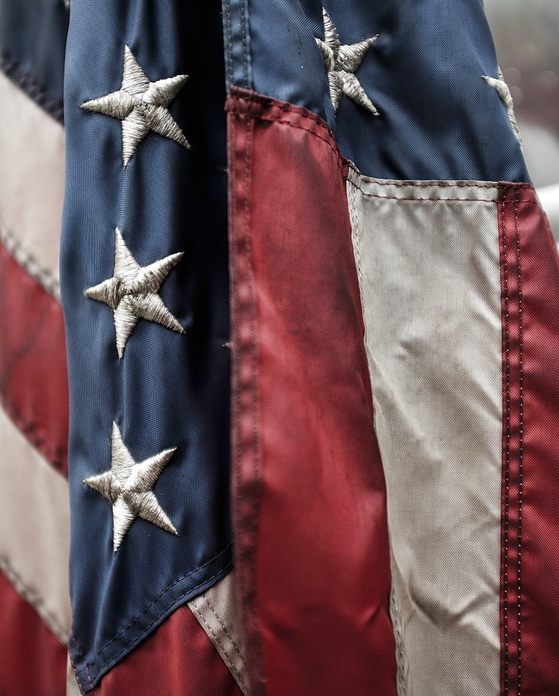 Close-up of American flag - 1178-25048