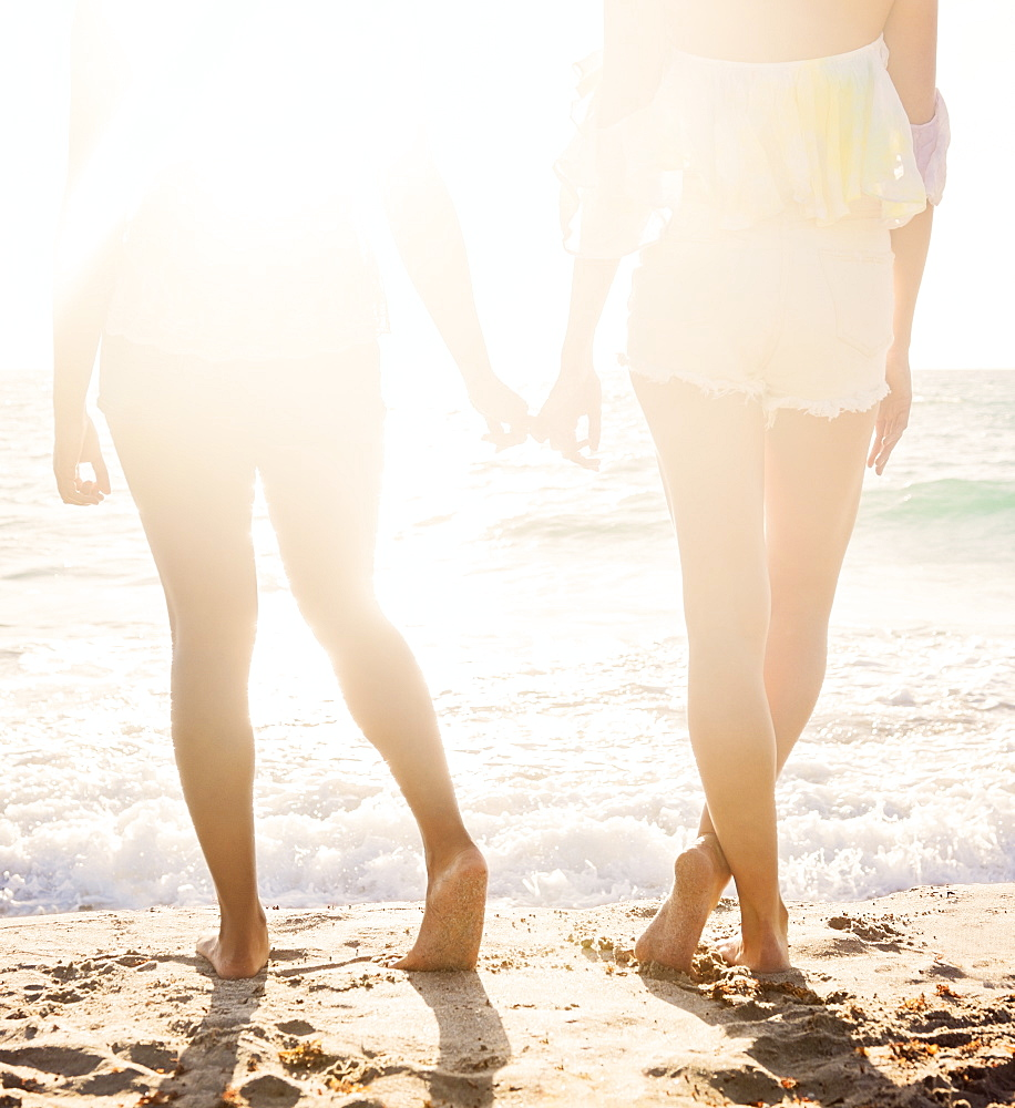 Female friends on beach