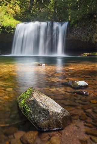 View of Butte Creek Falls, USA, Oregon, Marion County, Butte Creek Falls