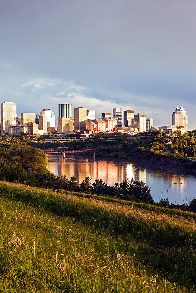 City skyline at sunrise, Canada, Alberta, Edmonton
