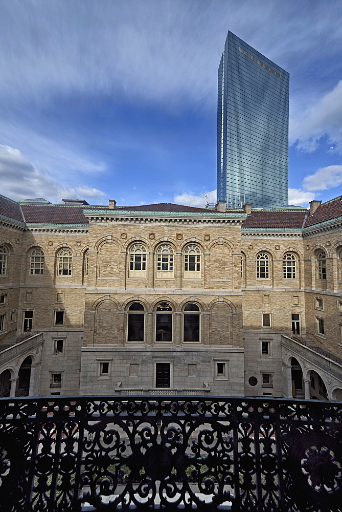 Courtyard of Boston Public Library, USA, Massachusetts, Boston, Copley Square