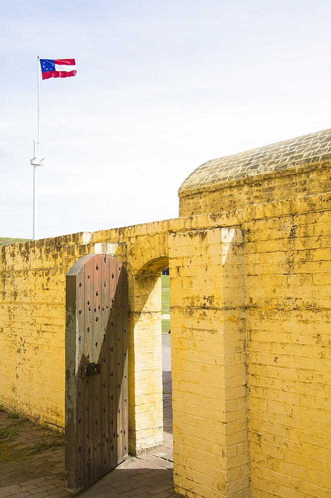 South Carolina, Sullivan's Island, Open gate in fort