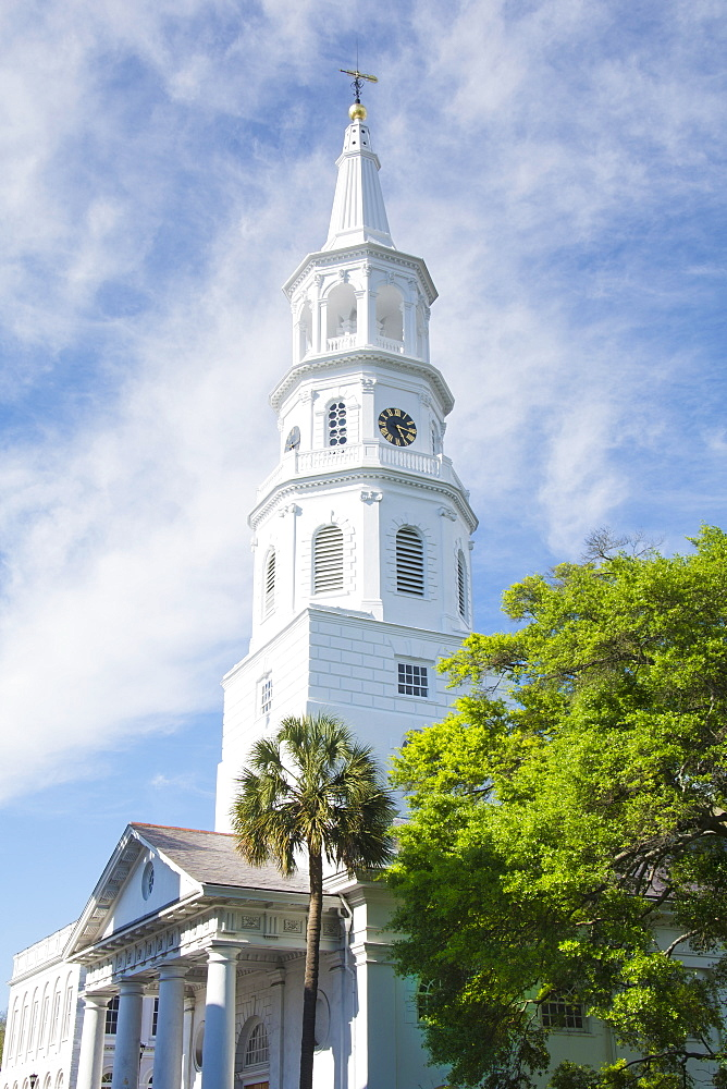 South Carolina, Charleston, Church on sunny day