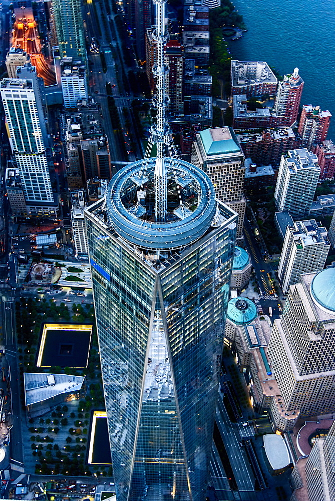 USA, New York State, New York City, One World Trade Center building
