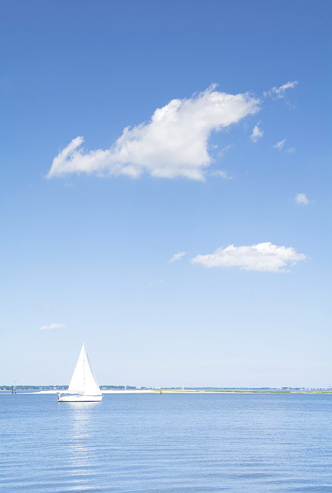 USA, South Carolina, Charleston, View of Charleston Harbor