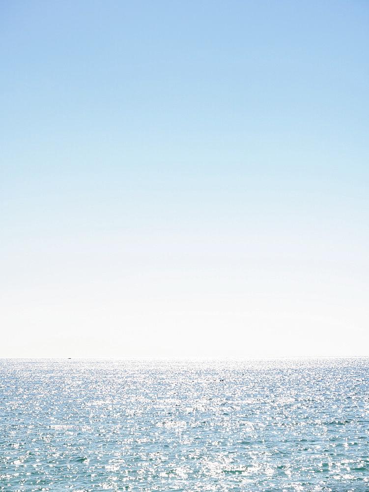 Clear sky above ocean