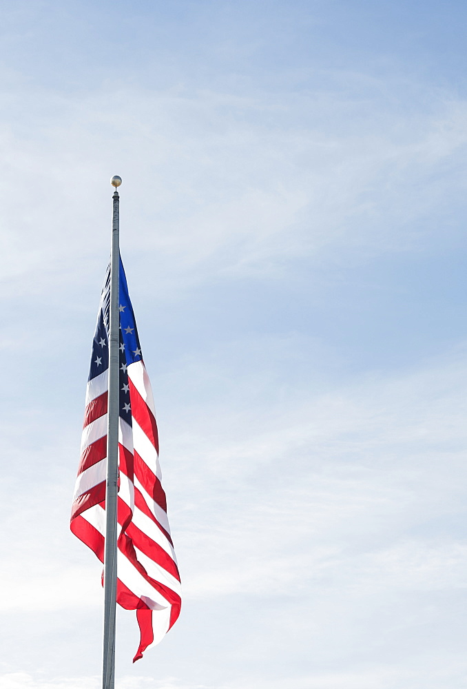 American flag against blue sky - 1178-26175