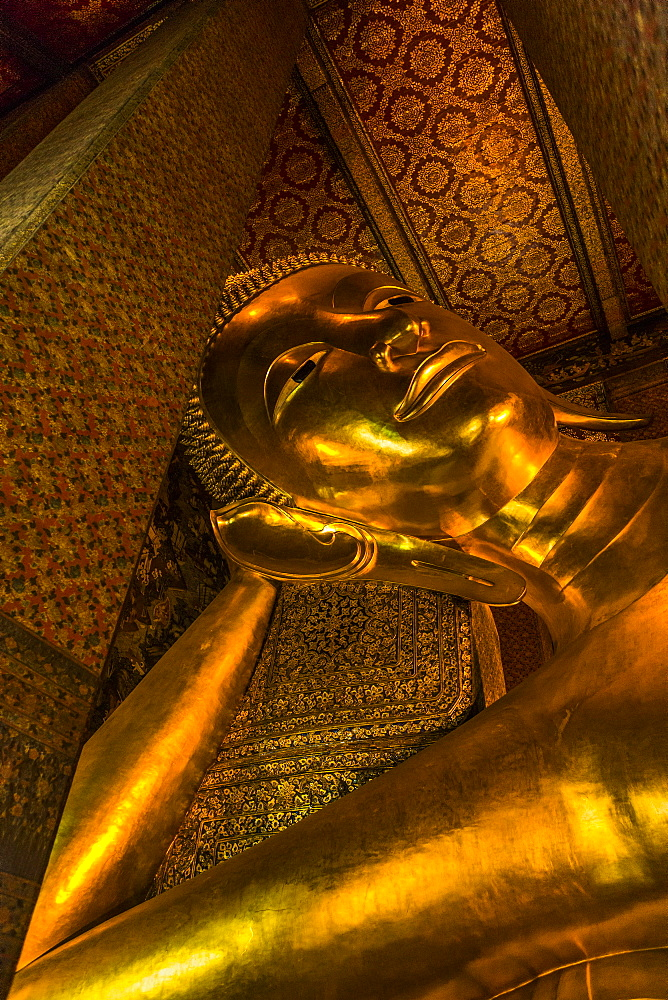 Gold statue of Buddha in Bangkok, Thailand