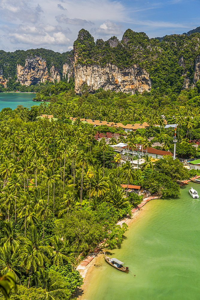 Coastline in East Railay, Thailand