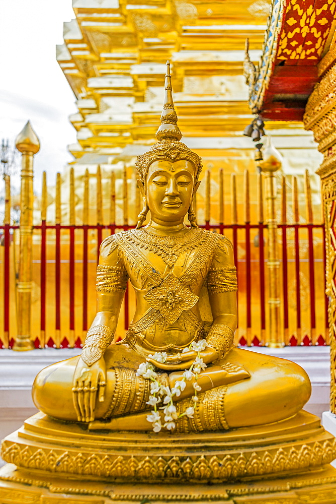 Gold Buddha sculpture in Bangkok, Thailand