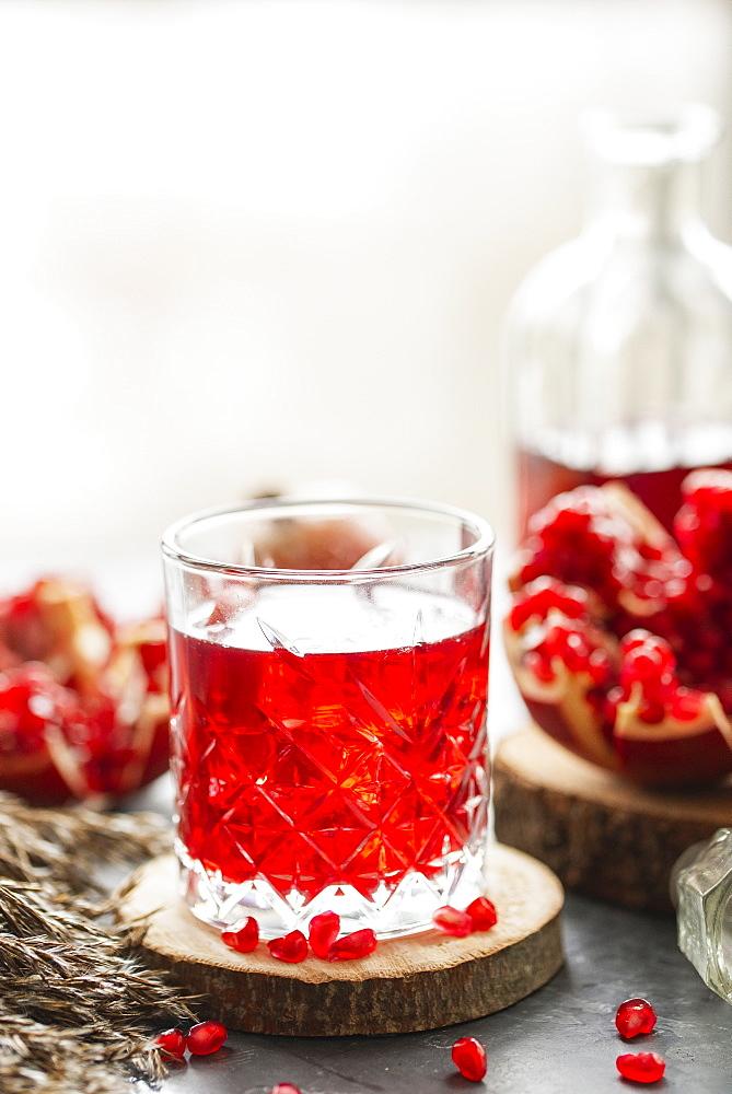 Glass of pomegranate juice - 1178-27071
