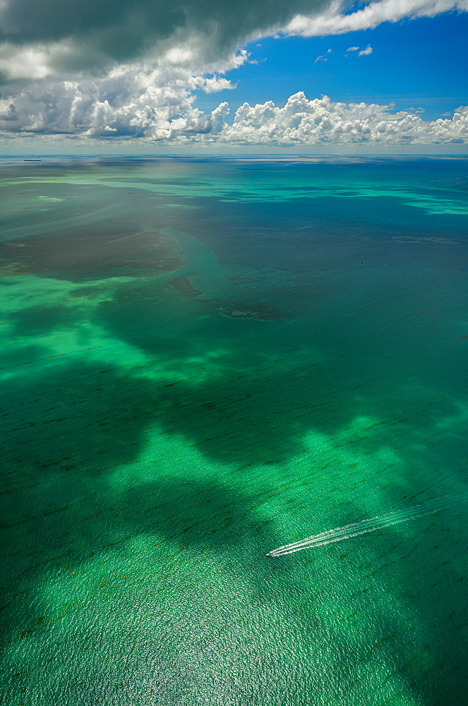 Clouds over seascape in Florida Keys, USA