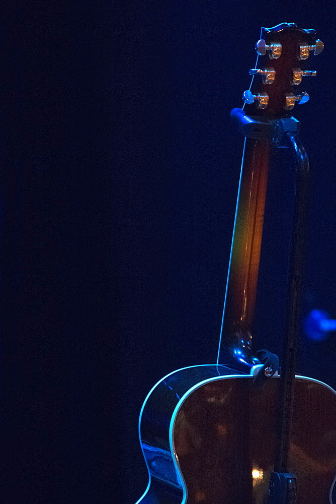 Guitar in guitar stand