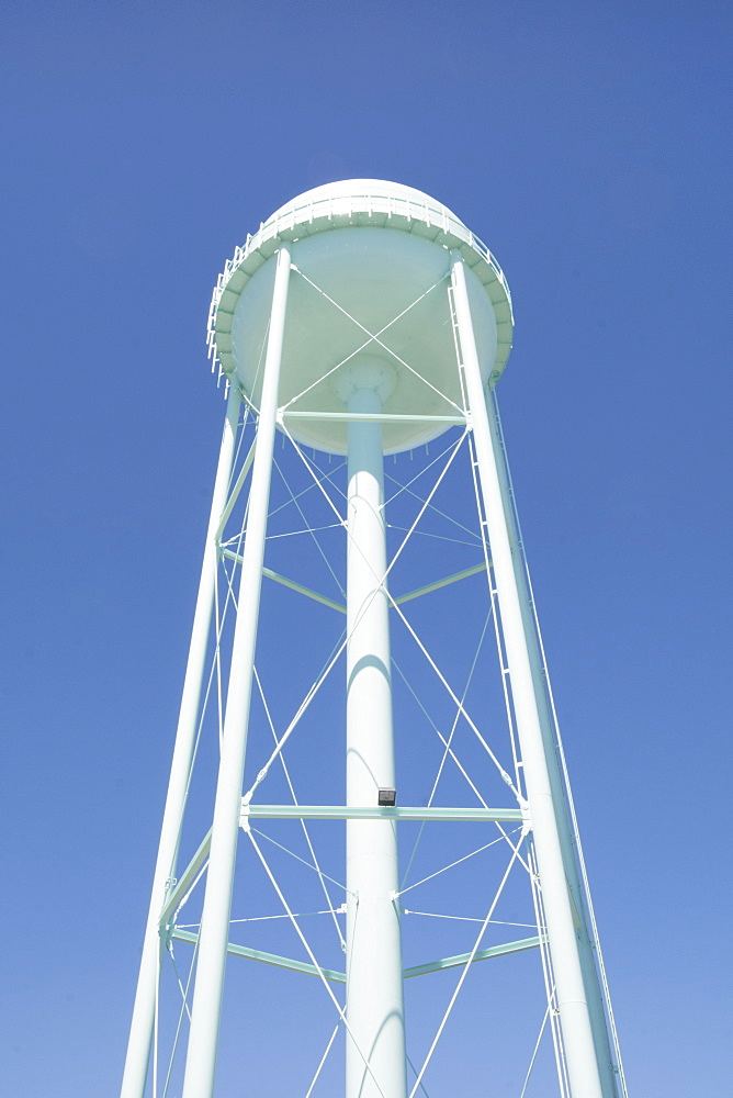 Water tower against sky