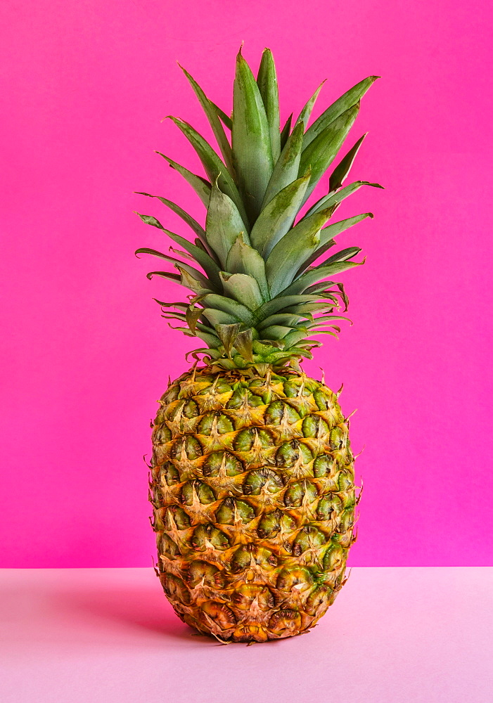 Pineapple against pink background