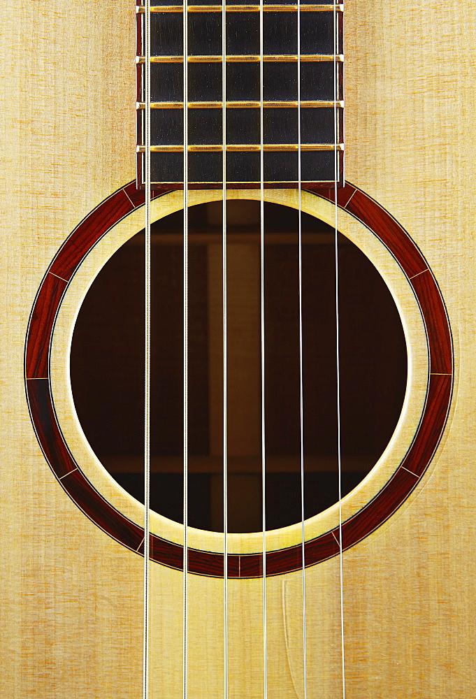 Close-up of classical guitar