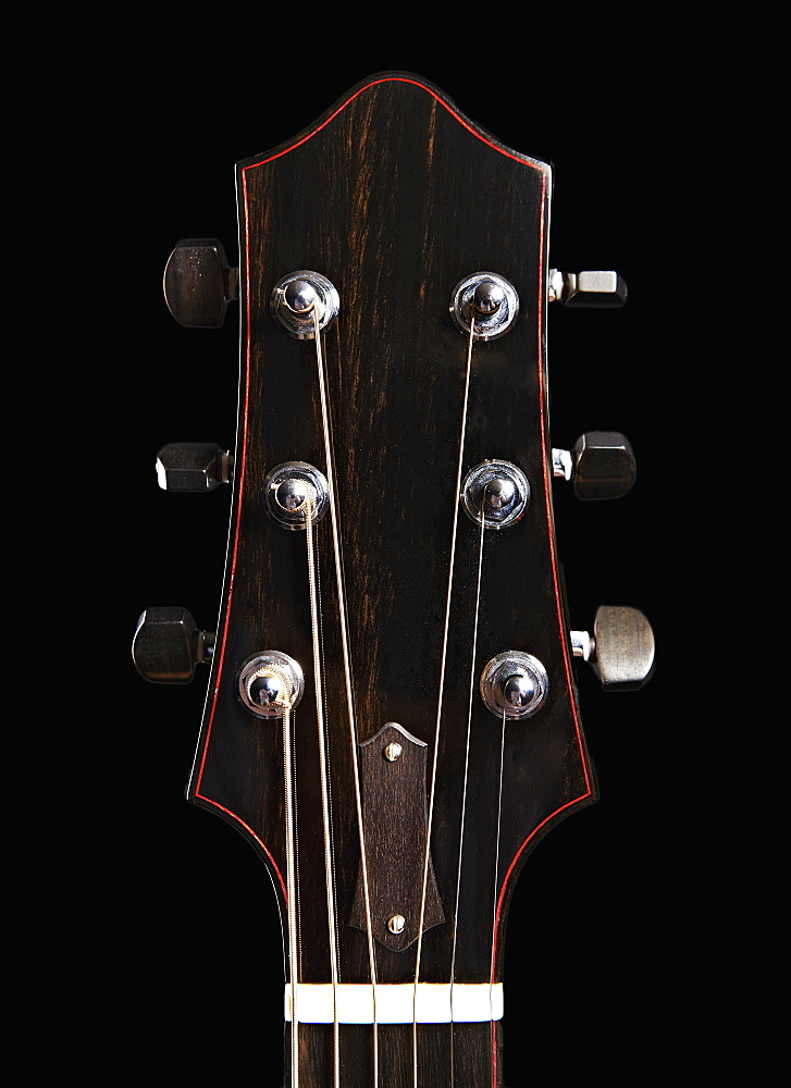 Close up of classical guitar - headstock