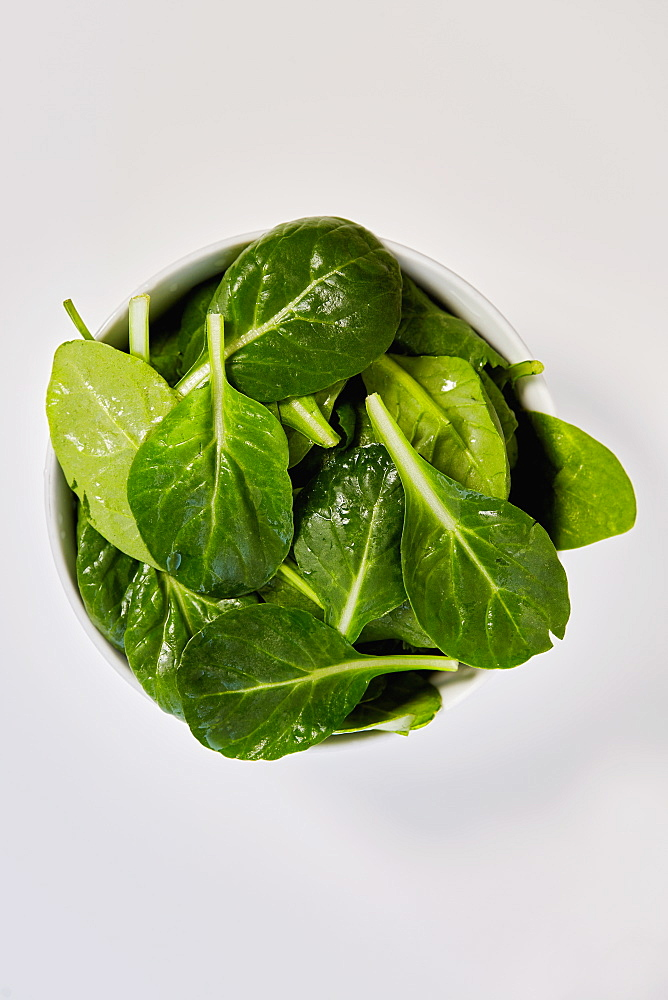 Baby spinach in bowl
