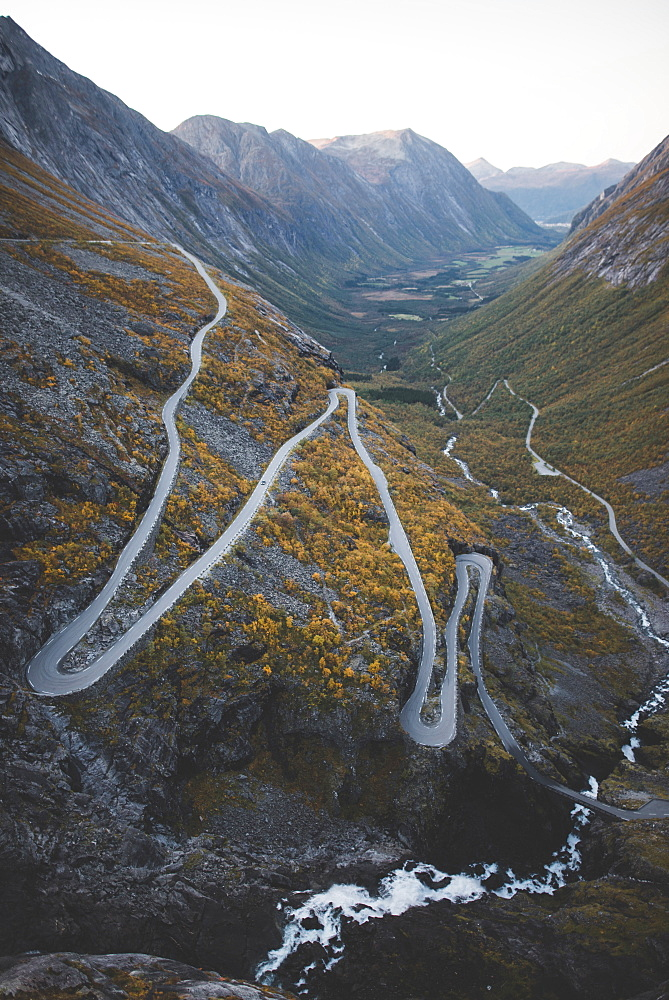 Norway, Andalsnes, Trollstigen, Scenic view of Trollstigen road