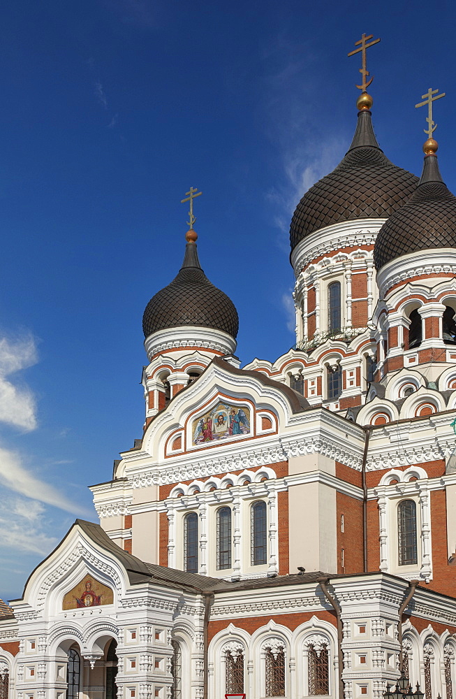 Europe, Baltic States, Estonia, Tallinn, Exterior of St Alexander Nevski Cathedral