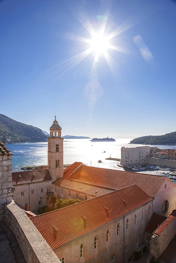 Croatia, Dubrovnik, Medieval church on waterfront