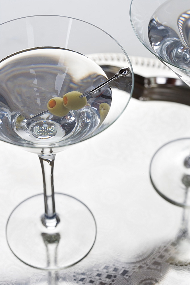 Closeup of a martini cocktail