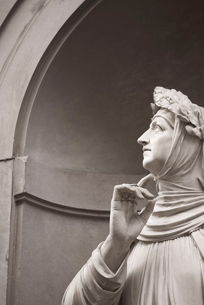 Statue of Petrarch Florence Italy