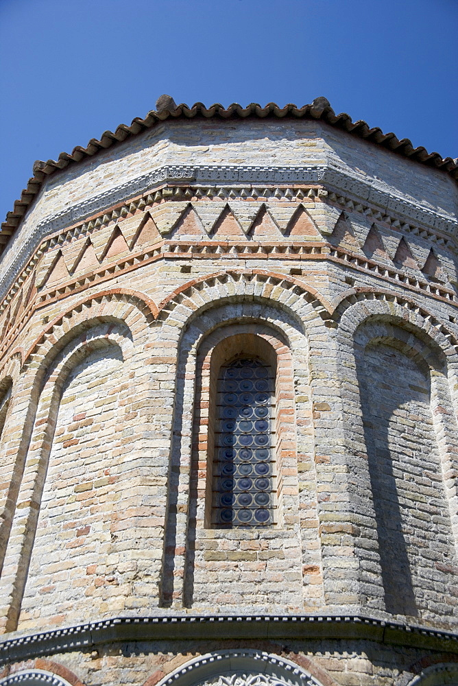 Window of Byzantine church Santa Fosca Torcello Italy