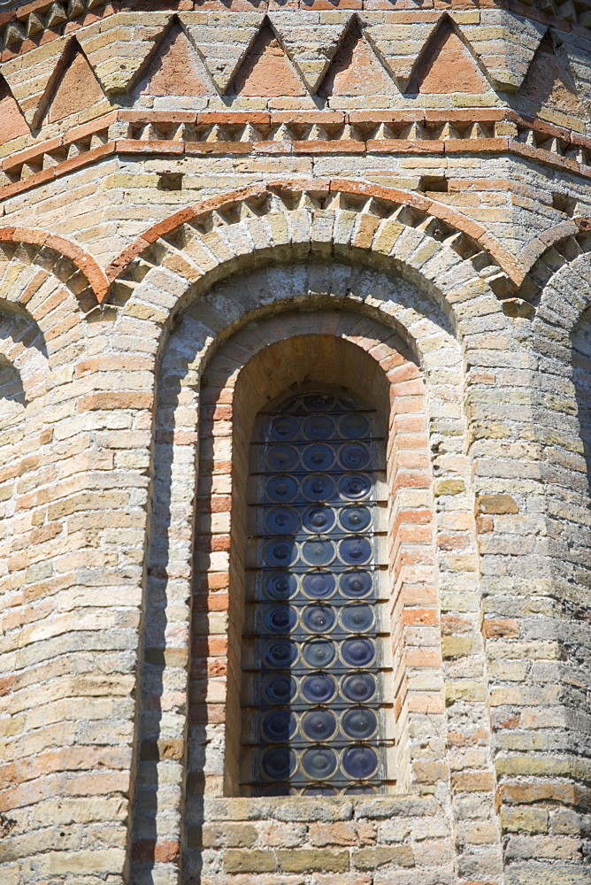 Window of Byzantine church of Santa Fosca Torcello Italy