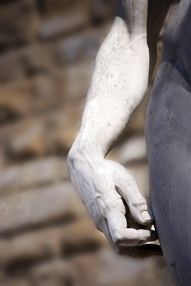 Hand of Michelangelo's David Piazza della Signoria Florence Italy