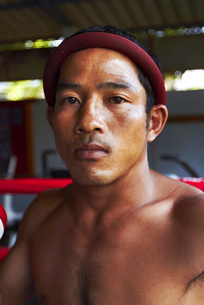 Portrait of mid adult male boxer