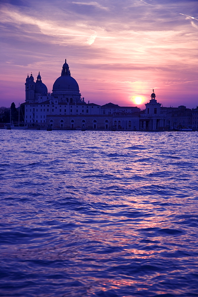 Church of Santa Maria Della Salute and the Punta della Dogana Venice Italy