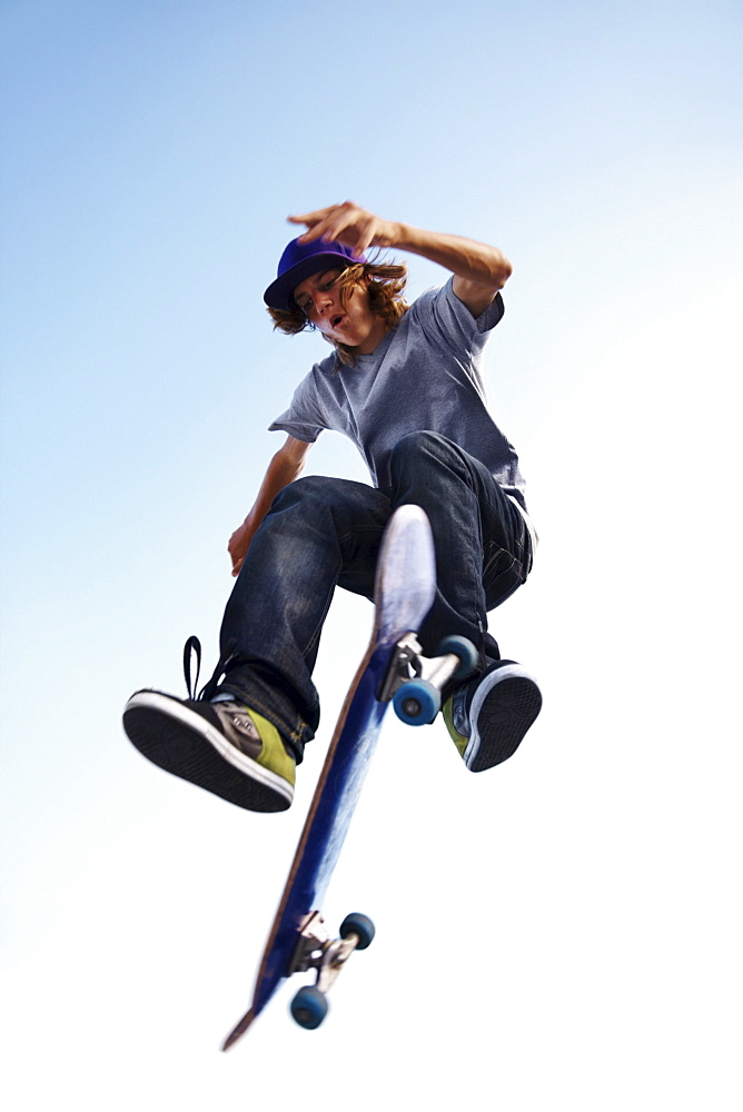 Skater performing jump