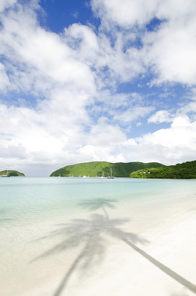 View of sandy beach, St. John, USVI