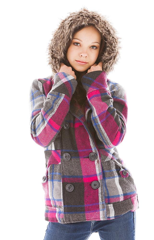 Portrait of posing girl (12-13)