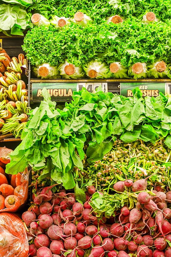 Stack of fresh vegetables