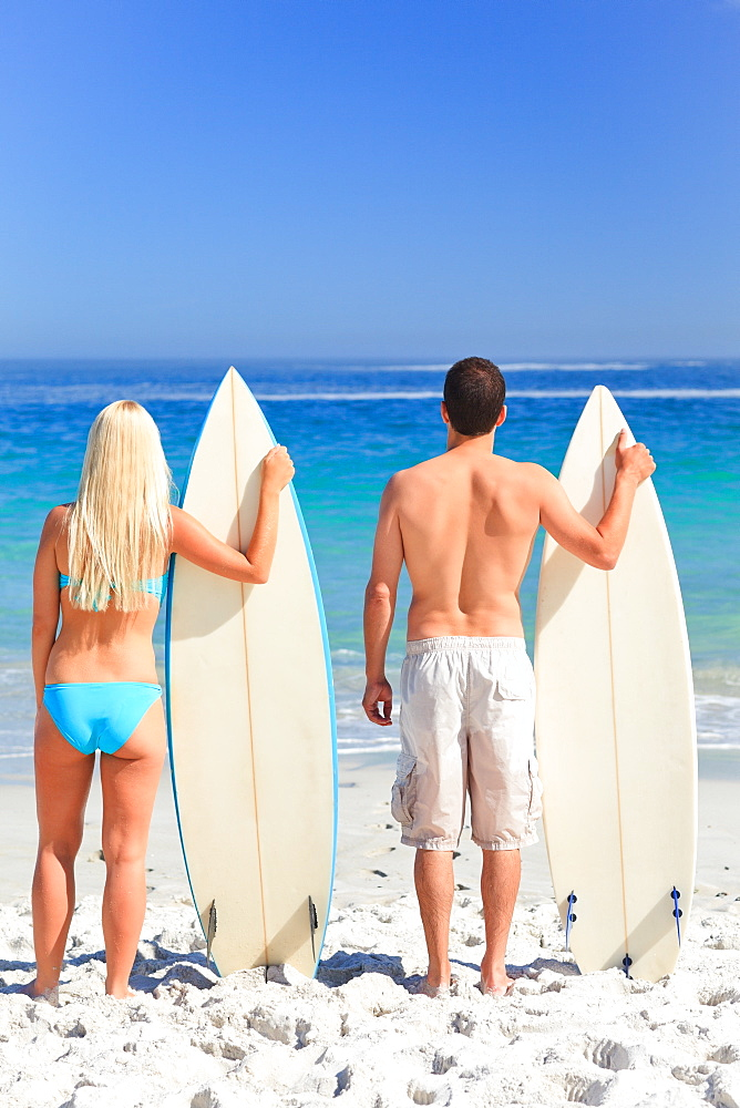 Couple with their surfboards - 1120-3721