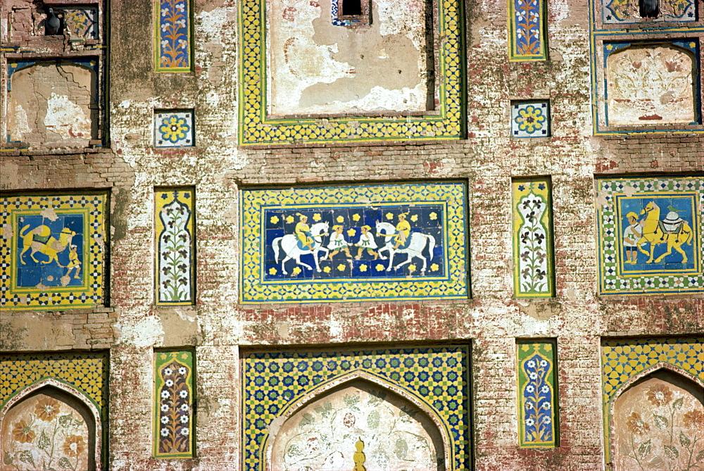 Detail, Fort, UNESCO World Heritage Site, Lahore, Pakistan, Asia