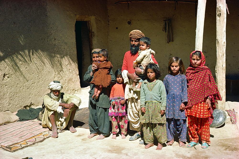 Pathan family near Ziarat, Pakistan, Asia