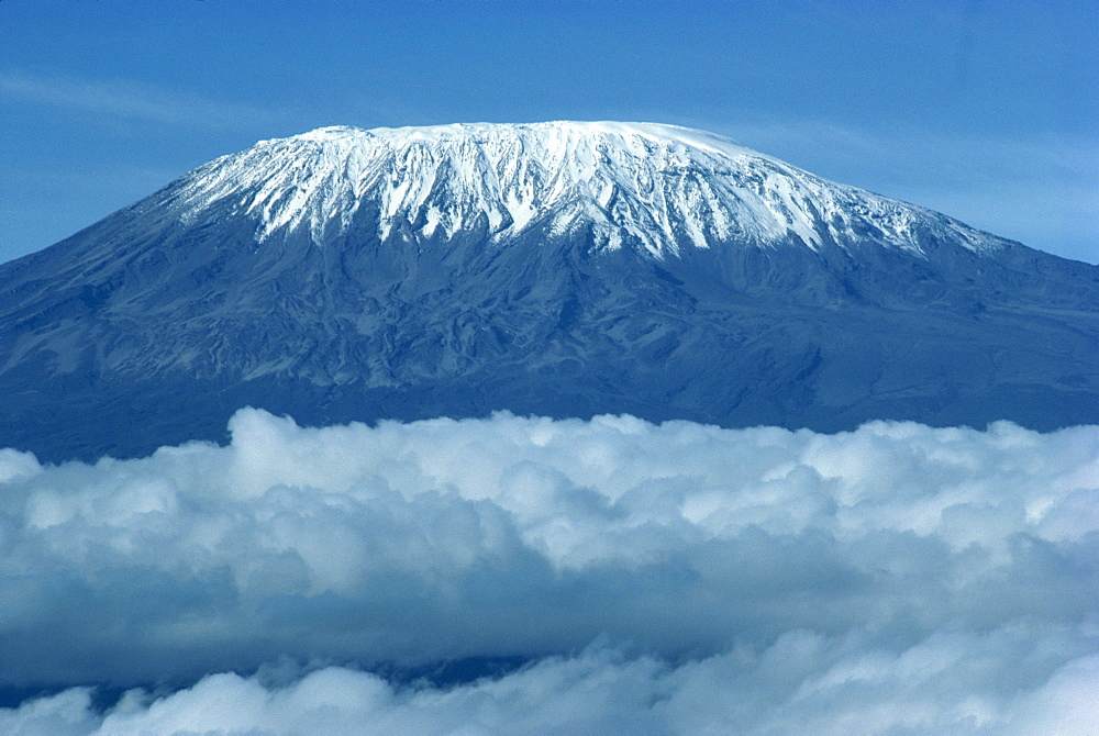 Mount Kilimanjaro, UNESCO World Heritage Site, seen from Kenya, East Africa, Africa - 1-23918