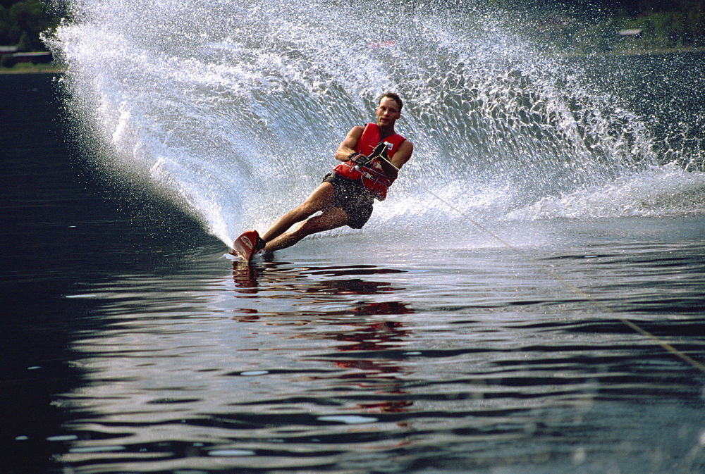 Waterskiing, British Columbia, Canada, North America