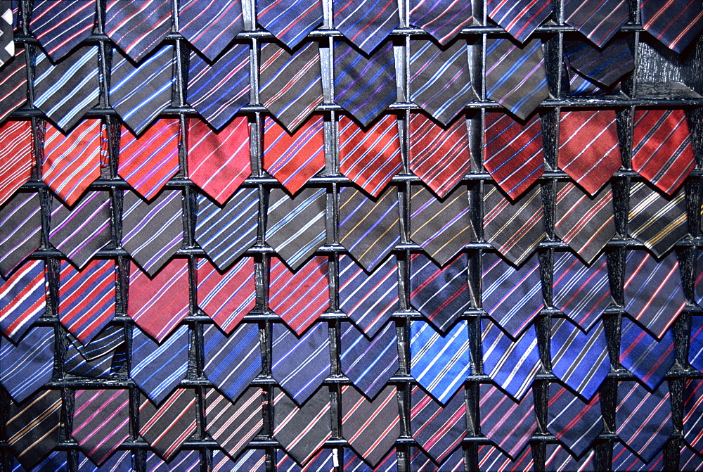 Silk ties for sale, Chiang Mai, Thailand, Southeast Asia, Asia