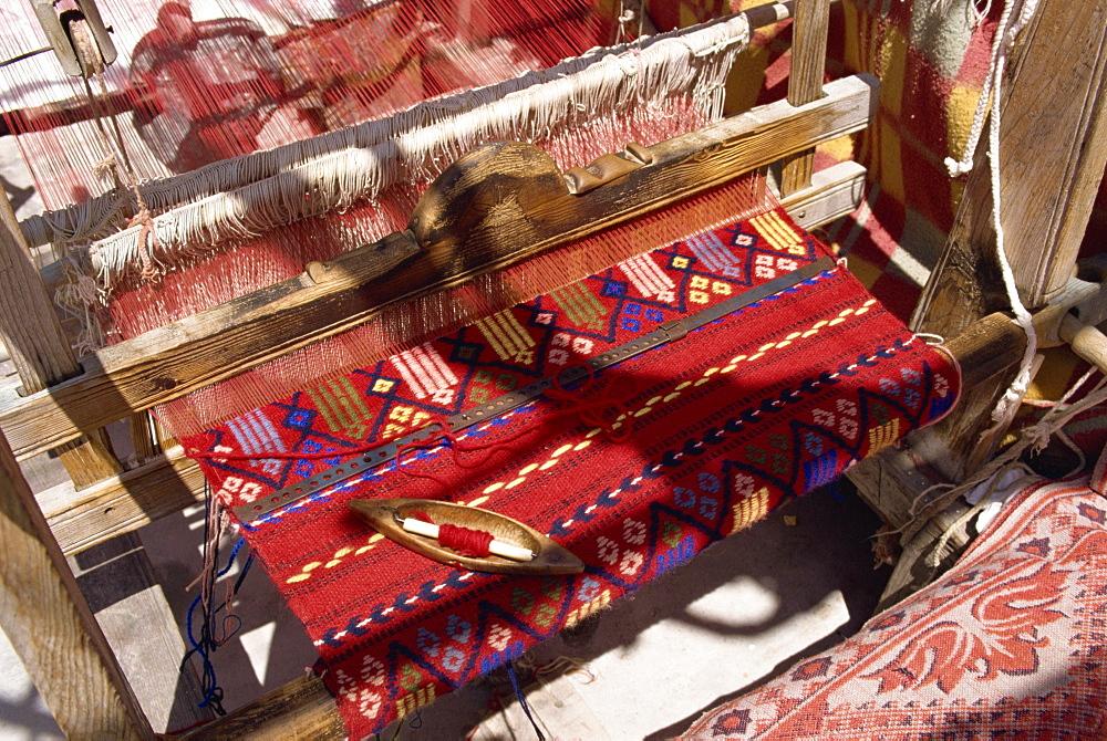 Loom in village near Lasithi Plateau, Crete, Greek Islands, Greece, Europe