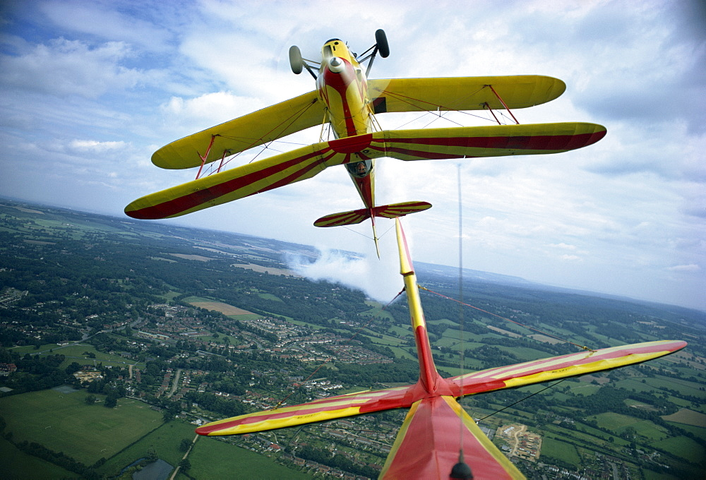 Aerobatics champion Neil Williams in Stampe, Redhill, Surrey, England, United Kingdom, Europe - 1-334