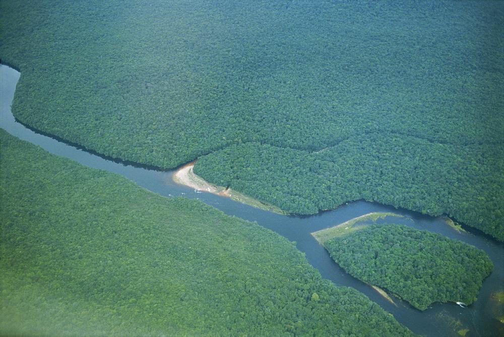 River close to Kavak, an Indian village near the Angel Falls, Venezuela, South America