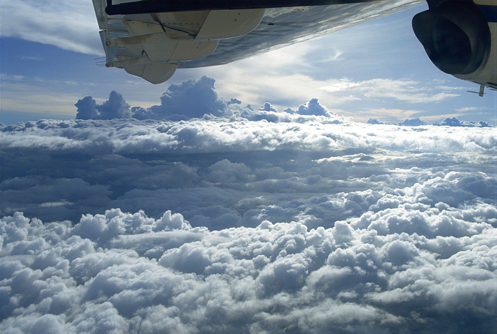 Clouds over Venezuela, from aircraft, South America