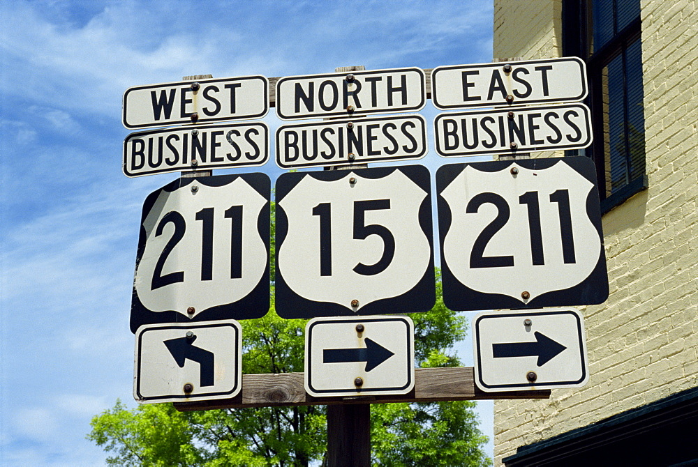 Road signs, Virginia, United States of America, North America