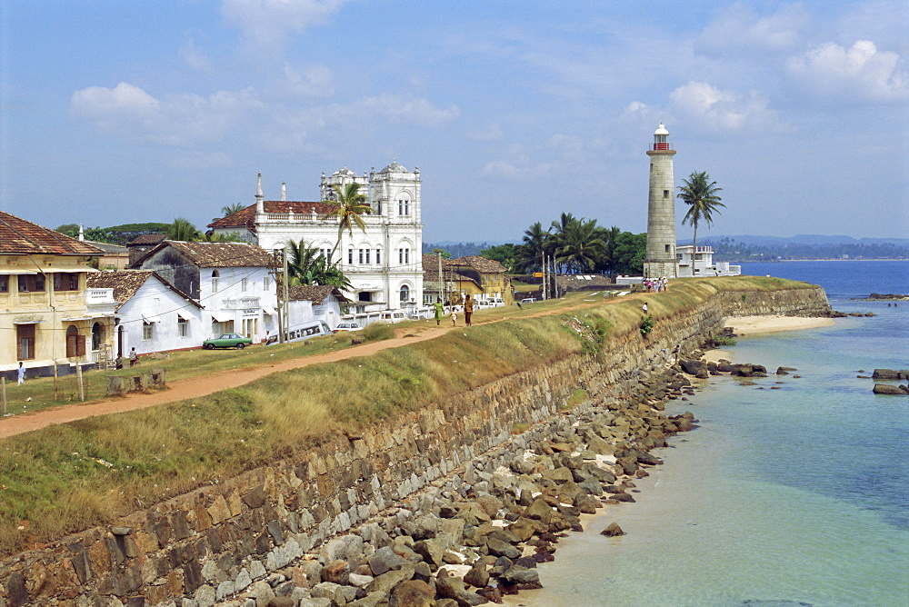 Colonial buildings and lighthouse, Galle, Sri Lanka